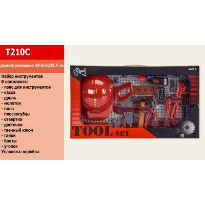 Набор инструментов T210C (1512888) (24шт/2) каска, отвертка, плоскогубцы, ключ, молоток, в кор.58,5-6-33,5 см