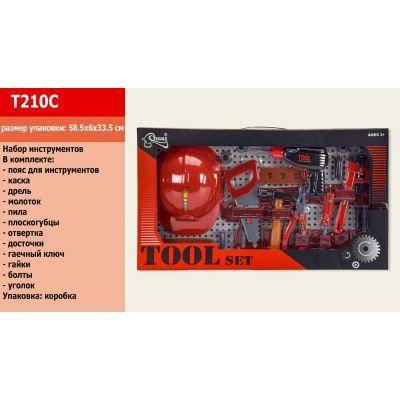 Набор инструментов T210C (1512888) (24шт/2) каска, отвертка, плоскогубцы, ключ, молоток, в кор.58,5-6-33,5 см, фото 2