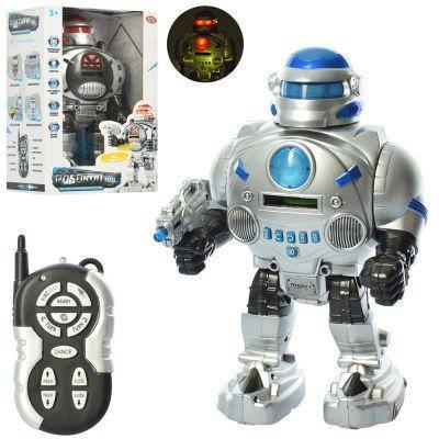 Робот 9895 р/у, 32 см, зв (англ), св, ездит,стреляет дисками, 2 цв,на бат,в кор-ке 33-21-12 см, фото 2