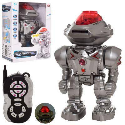 Робот 9896 р/у,30 см, муз, зв(англ), свет, ходит, стреляет дисками, бат, в кор-ке 21,5-32-15,5 см, фото 2