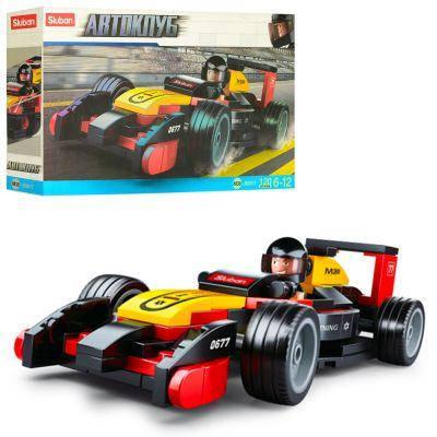 Конструктор SLUBAN M38-B0677 гоночная машина, фигурка, 120 дет, в кор-ке 24-14-4,5 см, фото 2
