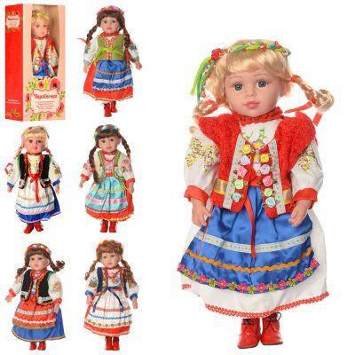 Кукла M1191-W-N Україночка, мягконабив муз (укр.песня),6 в, бат (таб), разобр. кор 49-23,5-12 см, фото 2