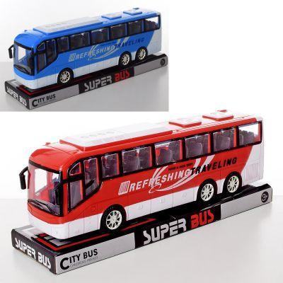 Автобус 828-A1-A2 инер-й, 2 цвета, в слюде 33-13-9 см