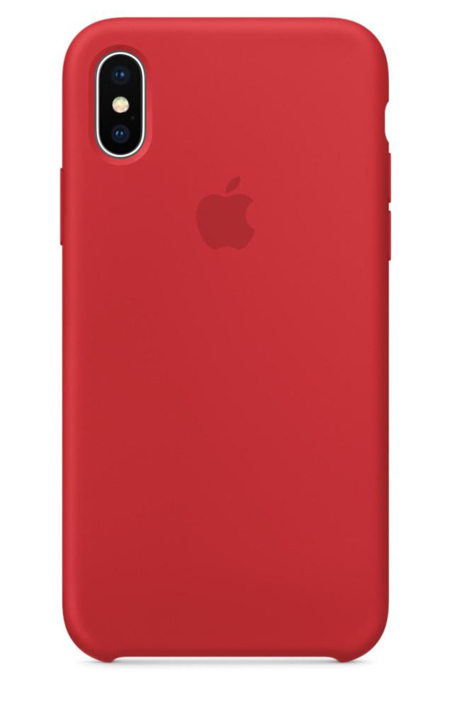 Задняя накладка Hi-Copy Silicone Case APPLE IPHONE X   XS (№14 RED)
