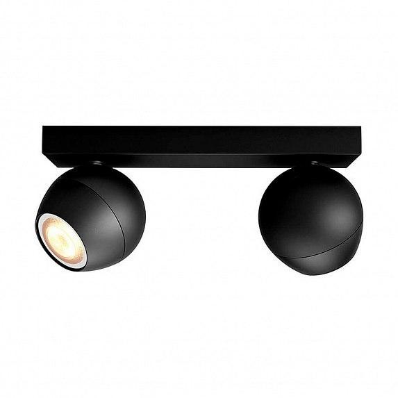 Смарт-светильник PHILIPS BUCKRAM bar/tube black 2x5.5W 240V (50472/30/P7)