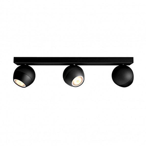 Смарт-светильник PHILIPS BUCKRAM bar/tube black 3x5.5W 240V (50473/30/P7)