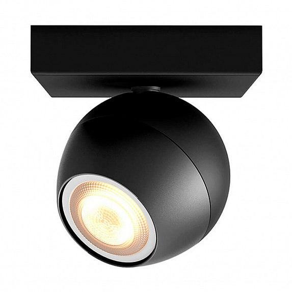Смарт-светильник PHILIPS BUCKRAM single spot black 1x5.5W 240V (50471/30/P7)