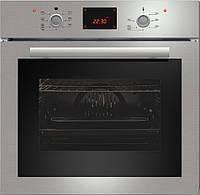 Sistema 107 (600 мм.) электрический, встраиваемый духовой шкаф цвет нержавеющая сталь / черное стекло, фото 1