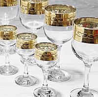 Набор из 12 стеклянных изделий (6 бокалов для вина+6 рюмок) EAV08-163/164, фото 1