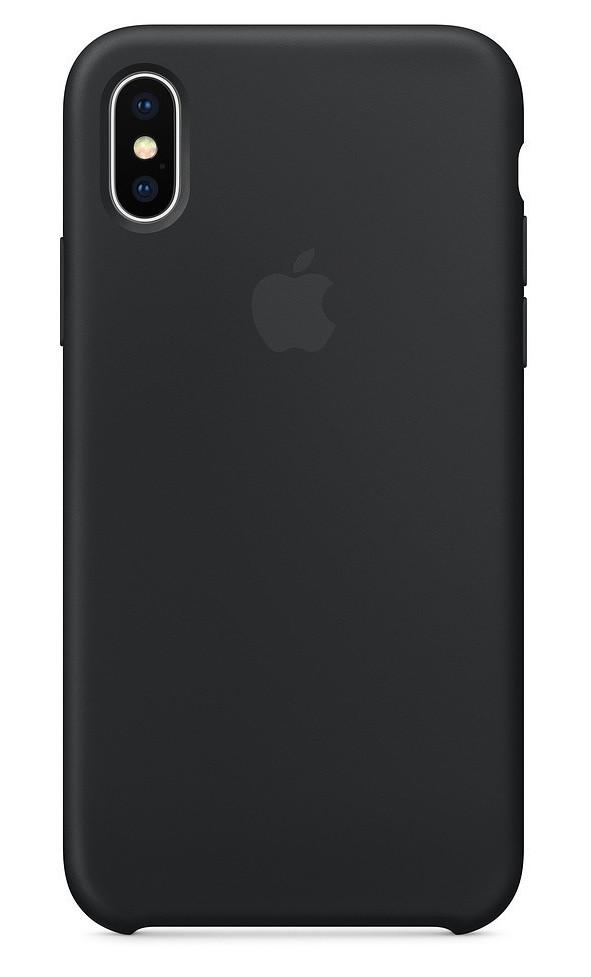 Задняя накладка Hi-Copy Silicone Case APPLE IPHONE X   XS (№18 BLACK)