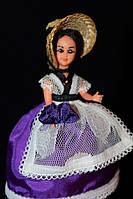 Кукла в национальном костюме 940031 в фиолетовом платье 10 см