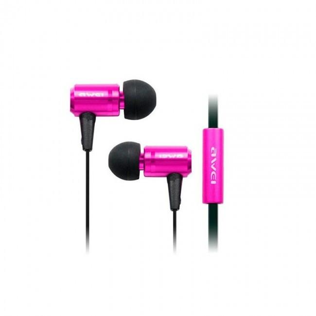 Наушники Awei Es100I Pink