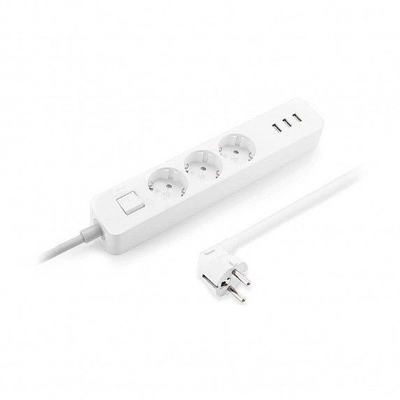 Сетевой фильтр-удлинитель Xiaomi Mi Power Strip (3-outlet, 3 USB) EU (NRB4030GL)