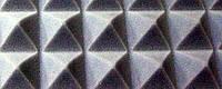 Акустический поролон «пирамида» лист 1х2м толщина 30мм темно-серая