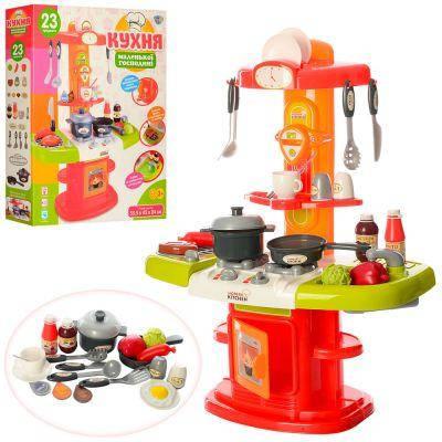 Кухня 16808 плита, духовка, мойка, посуда, продукты, 24 предм, зв, св, на бат-ке, в кор-ке 54-45-10,5 см, фото 2