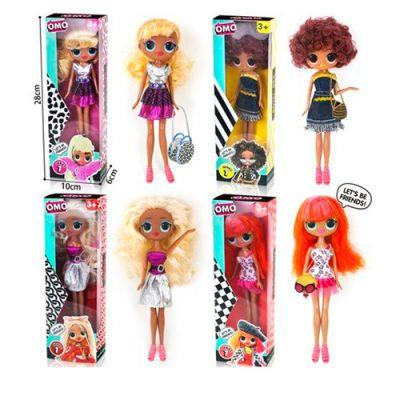 Кукла LK1007-3  LOL, 26 см, сумочка, расческа, 4 вида, в кор-ке 10-28-6,5 см