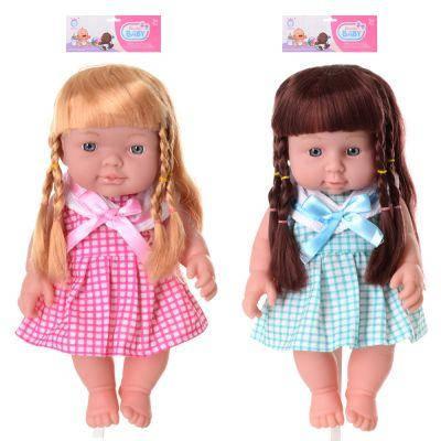 Кукла QH6008-23 28 см, звук, 2 вида, бат(таб), в кульке 21-37-7 см, фото 2