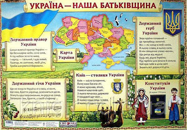 Україна- наша Батьківщина 50*70 см