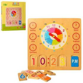 Деревянная игрушка Часы MD 2115
