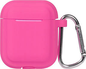 Кейс TOTO Plain Cover With Stripe Style Case AirPods Rose Red