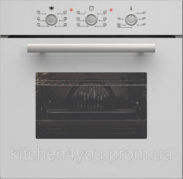 Sistema 206W (600 мм.) электрический, встраиваемый духовой шкаф цвет белое закаленное стекло