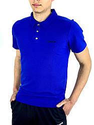Футболка Поло Чоловіча синя в стилі Reebok (Рібок) в розмірі S(46) M(48) L (50) XL(52) XXL (54)