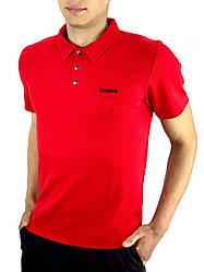 Футболка Поло Чоловіча червона в стилі Reebok (Рібок) в розмірі S(46) M(48) L (50) XL(52) XXL (54)