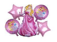 Набор фольгированных шаров Принцессы Дисней 5 шт Китай