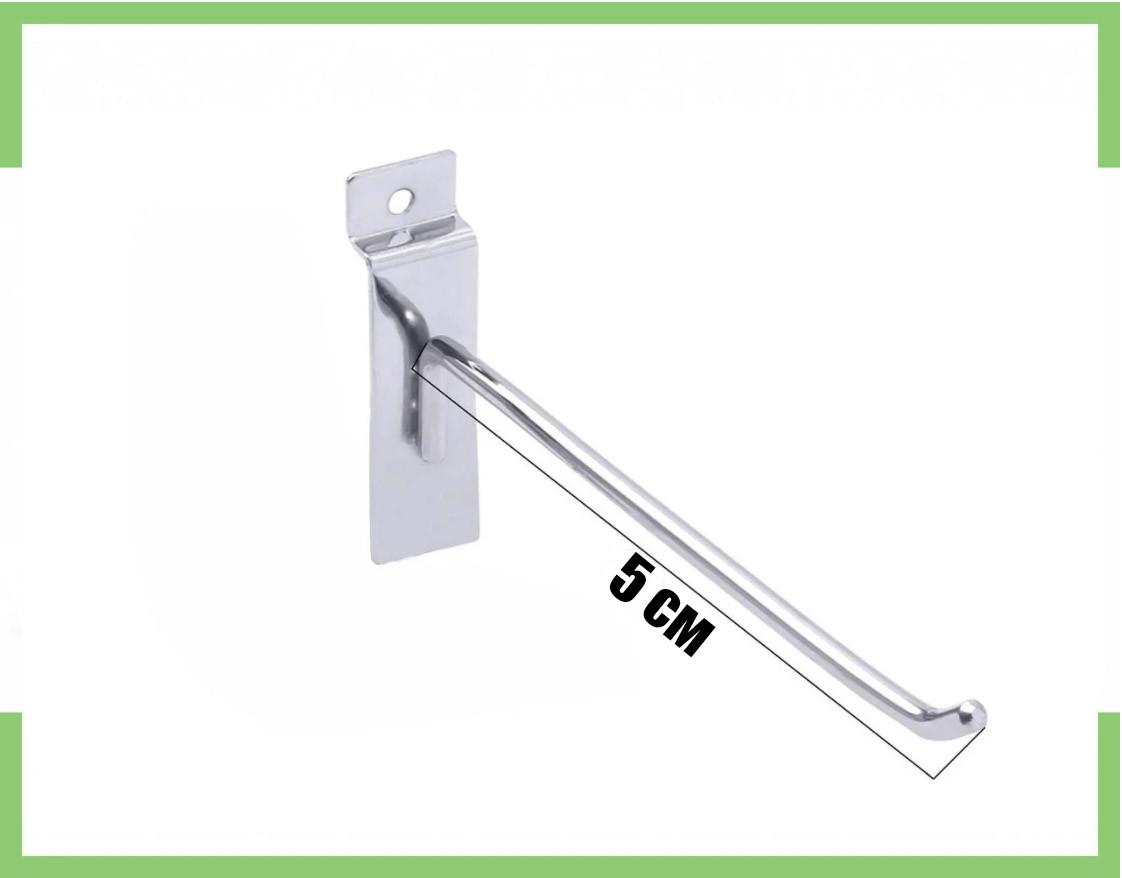 Крючки для экономпанели (Экспопанель) 5 см (хром) 6 мм