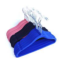 Детские бархатніе вешалки синего цвета, 29см, 10шт в упаковке