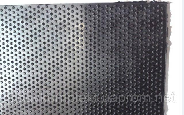 Резина подметочная цвет черный размер 520*520*3 рисунок Звезда
