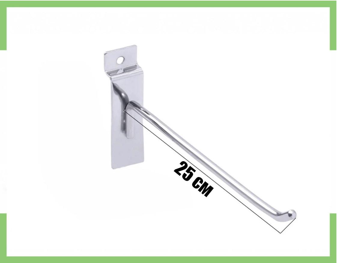 Крючок хромированный в экономпанель (Экспопанель) 25 см, толщина 6мм