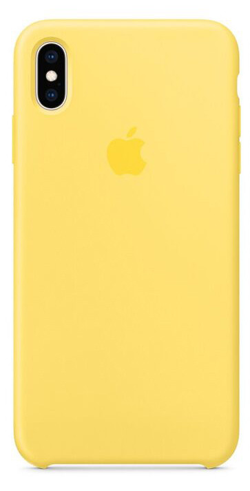 Задняя накладка Hi-Copy Silicone Case APPLE IPHONE X | XS (№4 YELLOW)