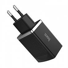 Сетевое Зарядное Устройство Hoco C43A (2Usb, 2.4А) Black