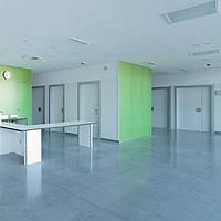 Медичні двері  HPL розпашні з фенольною кромкою art.1GPHL Soleco (1050/1150/1200х2140)