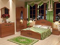 Спальня Лючия, комплект -  кровать, тумбы, комод, шкаф