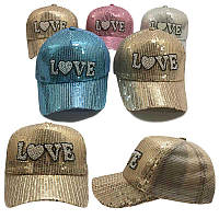 "Кепка для девочки (размер 46-48) ""Love"" 4 цвета                                                     , фото 1"