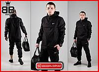 Мужской спортивный костюм President / комплект штаны + куртка анорак + Подарок / (черный)