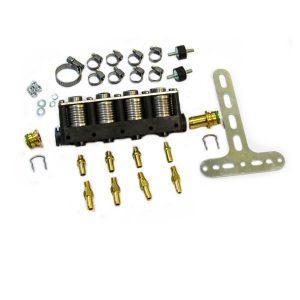 Форсунки газовые STAG W-02 4 цил. ( 60-168 л.с.) с жиклерами и штуцерами в коллектор