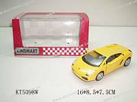 KINSMART Lamborghini Gallardo, метал, инерц., в кор. 16х8х7