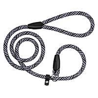 Поводок-Удавка для Собак   из Альпинистского Шнура Черно-Серый
