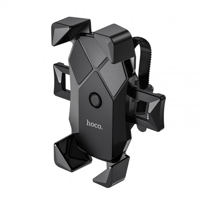 Велосипедный Мотоциклетный Держатель для Телефона Hoco Ca58 Light Ride One-Button Black на Руль