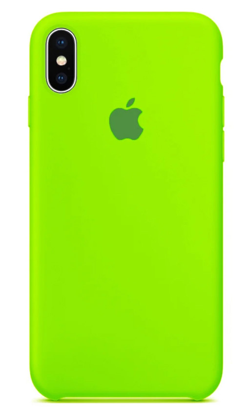 Задняя накладка Hi-Copy Silicone Case APPLE IPHONE X | XS (№31 LIME GREEN)