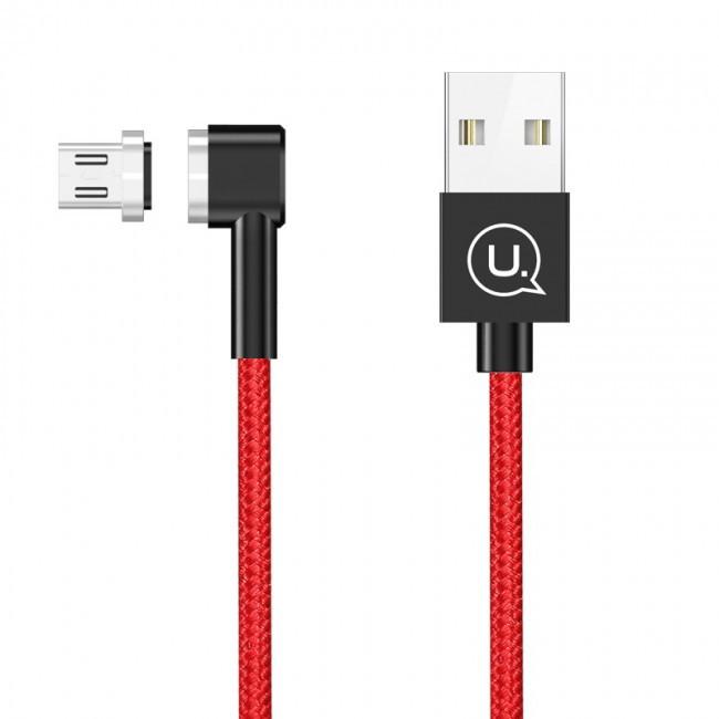 Кабель Usb Lightning Usams Us-Sj148 Magnet U-Boss Iphone 1M Red