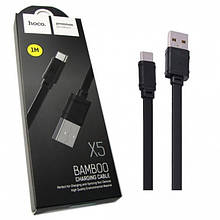 Дата Кабель Hoco X5 Bamboo Usb To Microusb (100См) Black