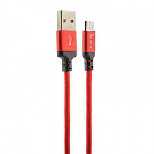 Кабель Hoco X14 Times Speed Microusb-Usb 1M Black+Red