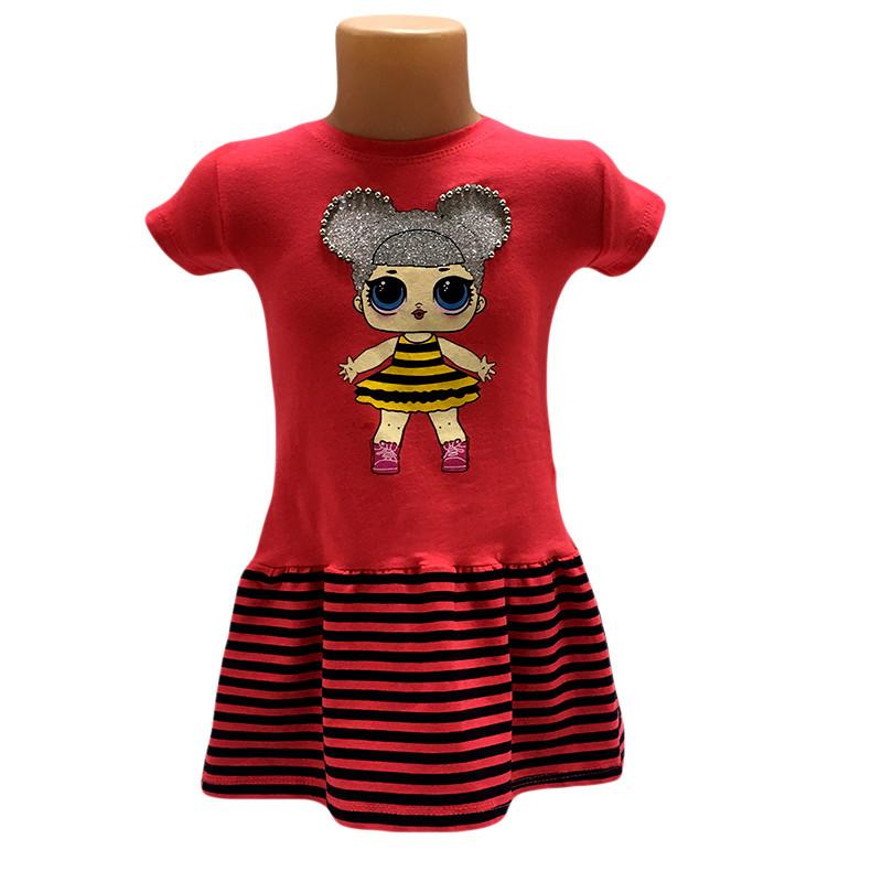 Платье трикотажное 80-104 (1-4 года) 3 цвета