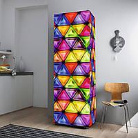 """Виниловая наклейка на холодильник """"Витраж""""."""