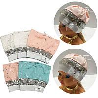 Летняя шапочка для девочки - на завязках