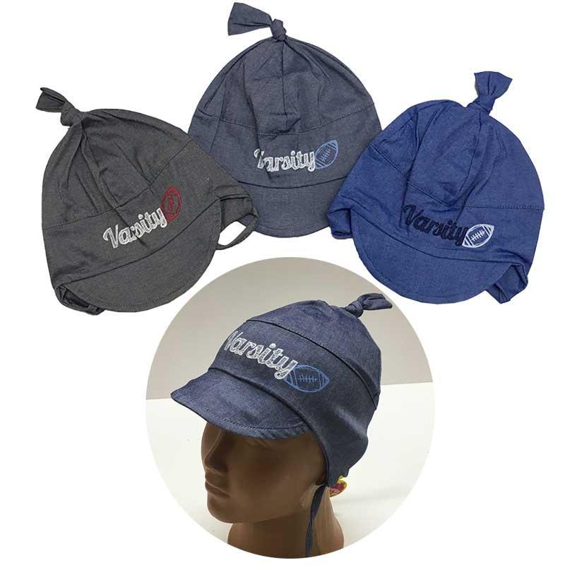 Летняя шапочка на мальчика 46-48 (3 цвета)